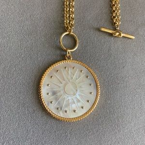 Kate Spade Pearlescent Medallion necklace